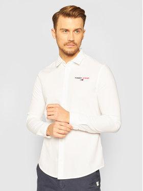 Tommy Jeans Tommy Jeans Koszula Textured Stripe Logo DM0DM08774 Biały Slim Fit
