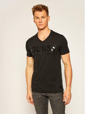 Guess Guess T-Shirt Overflow Tee M64I15 J1300 Černá Slim Fit