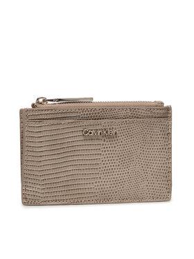 Calvin Klein Calvin Klein Etui za kreditne kartice Ck Must Cardholder Lg Lizard K60K608632 Bež