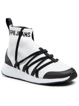 Pepe Jeans Pepe Jeans Sneakers Koko Sock PLS30842 Alb