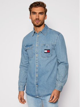 Tommy Jeans Tommy Jeans Cămașă Tjm Denim Badge DM0DM08784 Albastru Regular Fit