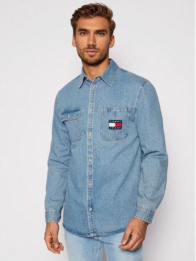 Tommy Jeans Tommy Jeans Marškiniai Tjm Denim Badge DM0DM08784 Mėlyna Regular Fit