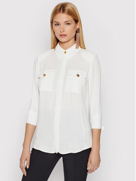 Elisabetta Franchi Elisabetta Franchi Košulja CA-335-16E2-V260 Bijela Regular Fit