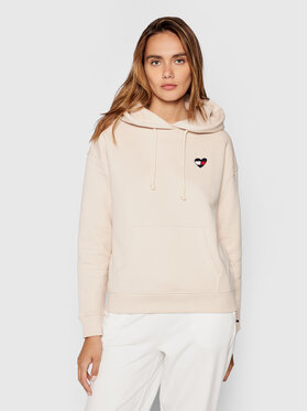 Tommy Jeans Tommy Jeans Bluza Tjw Homespun Heart DW0DW10395 Beżowy Boxy Fit