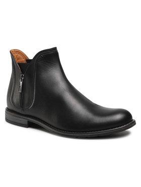 Gino Rossi Gino Rossi Členková obuv s elastickým prvkom Aldo MBU352-541-0722-9900-0 Čierna