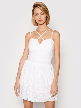 Rinascimento Rinascimento Sukienka letnia CFC0103741003 Biały Regular Fit