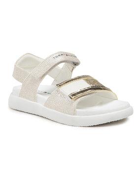 Tommy Hilfiger Tommy Hilfiger Σανδάλια Velcro Sandal Platinum T1A2-31035-1160 S Χρυσό