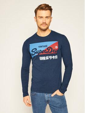 Superdry Superdry Longsleeve Vl O Primary Ls Top M6010155A Blu scuro Regular Fit