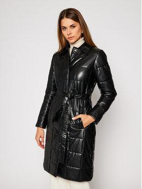 Trussardi Jeans Trussardi Jeans Kožená bunda 56S00555 Čierna Regular Fit