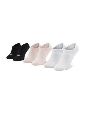 4F 4F Súprava 3 párov kotníkových ponožiek dámských H4L21-SOD007 Ružová