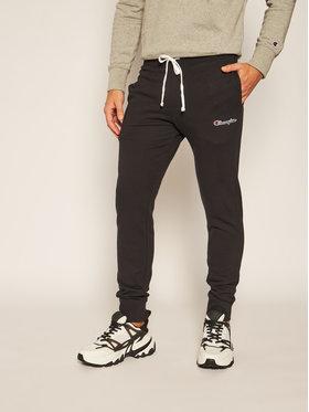 Champion Champion Teplákové kalhoty Cuffed Script Logo Embroidery Fleece Joggers 214724 Černá Regular Fit