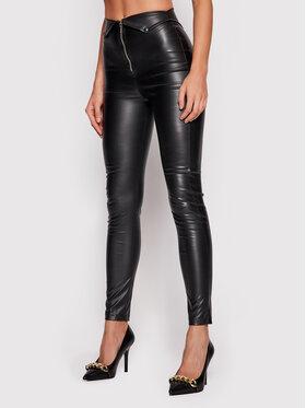 LaBellaMafia LaBellaMafia Spodnie z imitacji skóry 21804 Czarny Slim Fit