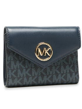 MICHAEL Michael Kors MICHAEL Michael Kors Malá dámska peňaženka Carmen 34S1GNME6B Tmavomodrá
