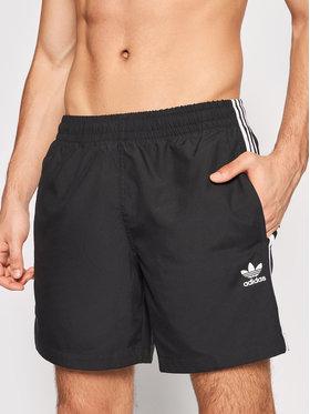adidas adidas Szorty kąpielowe adicolor Classics 3-Stripes H06701 Czarny Regular Fit
