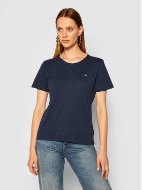 Tommy Jeans Tommy Jeans T-Shirt C Neck DW0DW09194 Granatowy Slim Fit