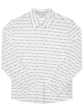 Calvin Klein Jeans Calvin Klein Jeans Cămașă Logo All Over IB0IB00550 Alb Regular Fit