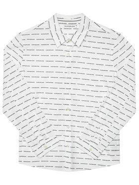 Calvin Klein Jeans Calvin Klein Jeans Košile Logo All Over IB0IB00550 Bílá Regular Fit