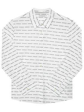 Calvin Klein Jeans Calvin Klein Jeans Πουκάμισο Logo All Over IB0IB00550 Λευκό Regular Fit
