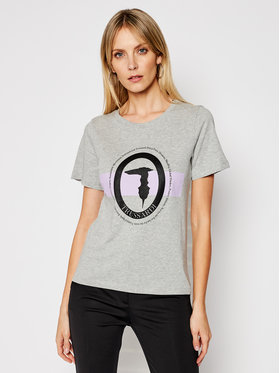 Trussardi Trussardi T-Shirt 56T00328 Szary Regular Fit