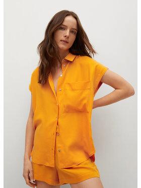 Mango Mango Koszula Lim 87019403 Pomarańczowy Relaxed Fit