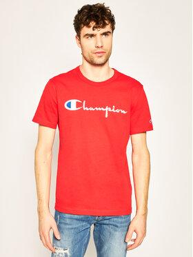 Champion Champion Póló Script Logo Crew 210972 Piros Comfort Fit