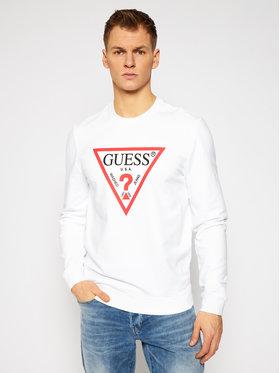 Guess Guess Bluza M1RQ37 K6ZS1 Biały Slim Fit