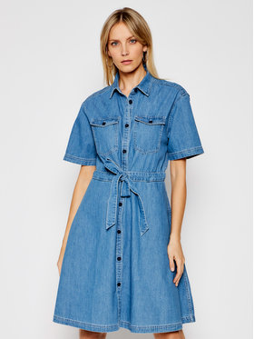 Tommy Jeans Tommy Jeans Džinsinė suknelė DW0DW10215 Mėlyna Regular Fit
