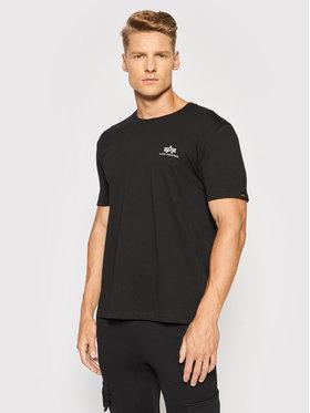 Alpha Industries Alpha Industries T-Shirt Backprint T Reflective Print 128507RP Czarny Regular Fit