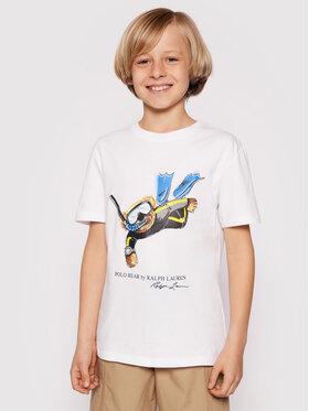 Polo Ralph Lauren Polo Ralph Lauren Тишърт Ss Cn 323838249001 Бял Regular Fit