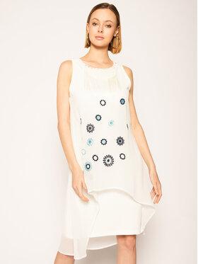 Desigual Desigual Ежедневна рокля Vest_Barrie 20SWVW56 Бял Straight Fit