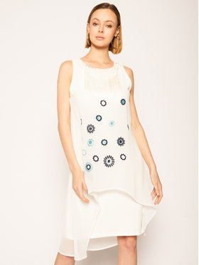 Desigual Desigual Každodenné šaty Vest_Barrie 20SWVW56 Biela Straight Fit