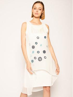 Desigual Desigual Sukienka codzienna Vest_Barrie 20SWVW56 Biały Straight Fit