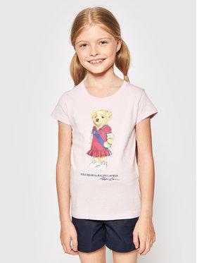 Polo Ralph Lauren Polo Ralph Lauren T-Shirt Bear 312838265002 Růžová Regular Fit