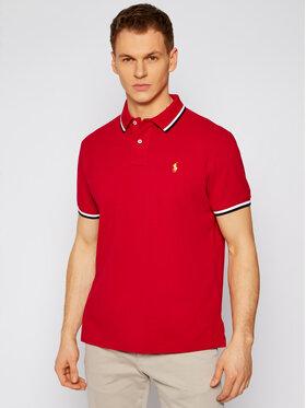 Polo Ralph Lauren Polo Ralph Lauren Тениска с яка и копчета Classics 710828369002 Червен Slim Fit
