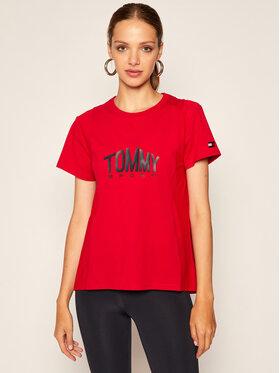 Tommy Sport Tommy Sport T-Shirt Logo S10S100658 Červená Regular Fit