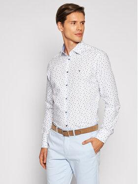 Tommy Hilfiger Tailored Tommy Hilfiger Tailored Koszula Leaf Print MW0MW18982 Biały Regular Fit