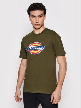 Dickies Dickies Marškinėliai Icon Logo DK0A4XC9MGR1 Žalia Regular Fit