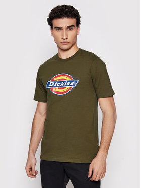 Dickies Dickies T-Shirt Icon Logo DK0A4XC9MGR1 Zielony Regular Fit