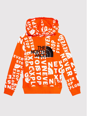 The North Face The North Face Bluza Drew Peak NF0A33H42B31 Pomarańczowy Regular Fit