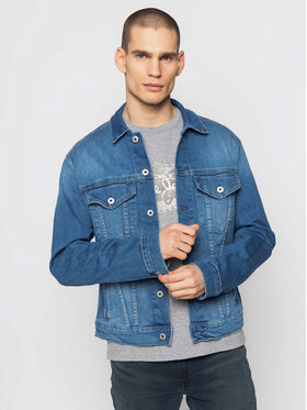 Pepe Jeans Pepe Jeans Jeansová bunda Pinner PM400908 Modrá Regular Fit