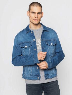 Pepe Jeans Pepe Jeans Kurtka jeansowa Pinner PM400908 Niebieski Regular Fit