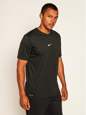Nike Nike Marškinėliai Dri-Fit Swoosh CT6478 Juoda Standard Fit
