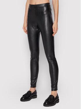 Max Mara Leisure Max Mara Leisure Pantalon en simili cuir Ranghi 37860616 Noir Slim Fit