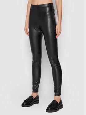 Max Mara Leisure Max Mara Leisure Spodnie z imitacji skóry Ranghi 37860616 Czarny Slim Fit