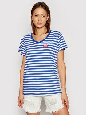 PLNY LALA PLNY LALA T-shirt Petite Kiss PL-KO-VN-00132 Bleu Relaxed Fit