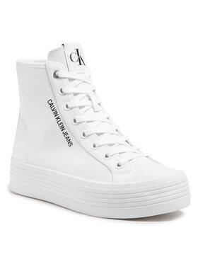 Calvin Klein Jeans Calvin Klein Jeans Sneakersy Vulcanized Ff Highlaceup Co YW0YW00125 Bílá