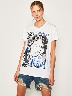 Just Cavalli Just Cavalli T-Shirt S04GC0373 Biały Regular Fit