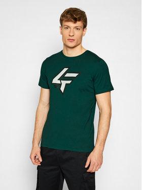 4F 4F T-Shirt H4L21-TSM010 Zielony Regular Fit