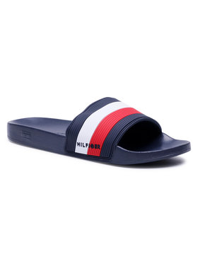 Tommy Hilfiger Tommy Hilfiger Чехли Essential Coraporate Pool Slide FM0FM03375 Тъмносин