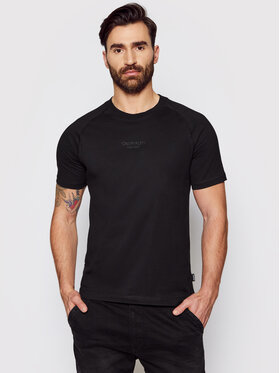 Calvin Klein Calvin Klein T-shirt Center Logo K10K106498 Crna Regular Fit